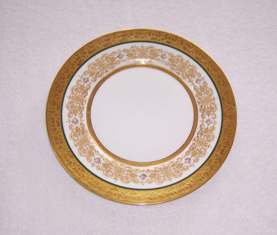 Set of 9 Limoges France Gold Plated Plates